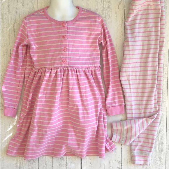 32238d3645d8f Hanna Andersson Matching Sets | Pink Striped Play Dress Leggings ...